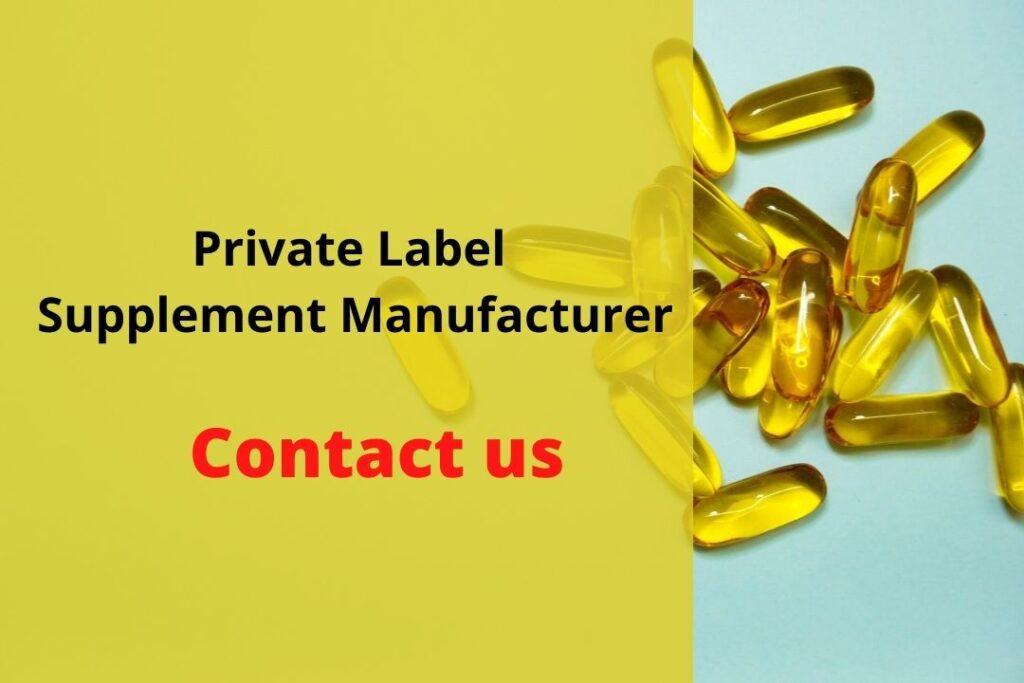 Private Label Supplement Manufacturer